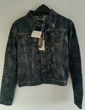 New Versace couture vintage casino glitter denim jacket size XS