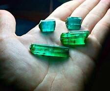 121 cts Top Quality Emerald Color & Indicolite Terminated Tourmaline Crystals