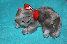 TY Beanie Baby - BEANI the Gray Cat (7 inch) - MWMT's Stuffed Animal Toy