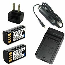 Charger + 2x Battery for JVC GR-D721 GR-D725 GR-D726 GR-D728 GR-D740 GR-D741