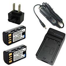 Charger + 2x Li-ion Battery for JVC GZ-MG335 GZ-MG340 GZ-MG344 GZ-MG345 GZ-MG360