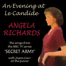 """CD """"AN EVENING AT LE CANDIDE"""" songs from SECRET ARMY by ANGELA RICHARDS au cafe"""