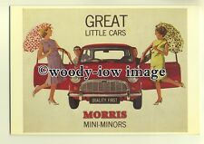 ad0095 - Morris Mini-Minor Car - modern advert postcard