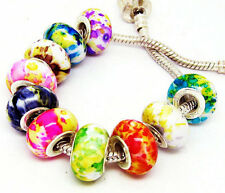 100 PCS mixed Beautiful Acrylic Camouflage Bead Fits European Bracelet AM07