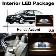 For Honda Accord 2013-2016 Xenon White LED Interior kit +White License Light LED