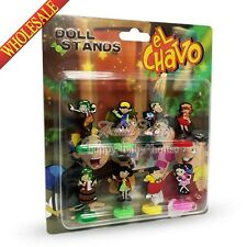 Hot 8pcs EL Chavo Novelty Stand up dolls,Spring Dolls,Furnishing articles dolls