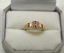 Victorian Lovely 15ct Gold Ruby And Seed Pearl Ring