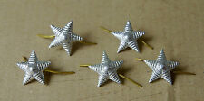 10 Silver STAR for Shoulder epaulet USSR Russian SOVIET Army Military Pinback А-