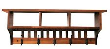 Coat Rack Mission 4hk Cubby Cubbie Solid Oak Wood Wall Mounted Shelf Custom