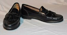Bass Jeffrey Mens Tasseled Loafers Slip-on Shoes Black Leather US 9 M,Style