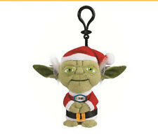 "STAR WARS SANTA YODA 4"" TALKING PLUSH WITH CLIP NEW GREAT GIFT CHRISTMAS"