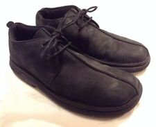 Mens SKECHERS Comfort Construction Black Leather Chukka Boots Size 11
