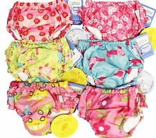 4pk Asst I Play Girl's Bathing Suit Ultimate Swim Diapers 24M 2T 25-30 lbs