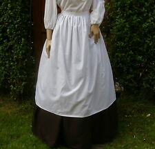 Ladies Victorian American civil war plain half apron costume fancy dress