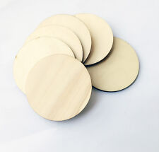 50 Blank Plain Round Shaped Natural Wood Slices Disc Craft Hobby Pyrography 30mm