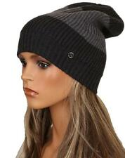 NEW GUCCI WELMOR 2 SHADES OF GRAY INTERLOCKING G DETAIL KNIT HAT ONE SIZE