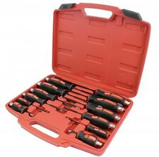 12pc Mechanics Screwdriver Set Pozi Skank High Impact Case Spanner Socket Hex