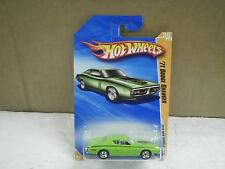 HOT WHEELS- '71 DODGE CHARGER (GREEN)- 2010 NEW MODELS- NEW ON CARD- L15