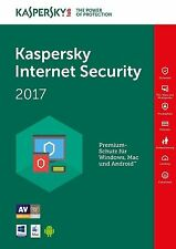 Kaspersky Internet Security 2017 3 PC / Geräte 1 Jahr ,  EU , Deutch , Antivirus
