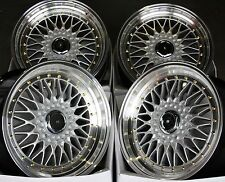 "17"" SILVER RS ALLOY WHEELS FITS 4x100 BMW FIAT HONDA HYUNDAI KIA MODELS"