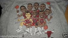 vtg 90s chicago BULLS CARICATURE salem SHIRT large L xl JORDAN pippen NBA soft