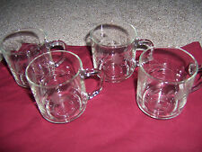 4 Princess House Heritage  Glass Crystal Tea Cups Coffee Mugs