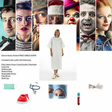 1x Zombie Patient Fancy Dress kit with Blood Mesh Hat Gloves and Mask