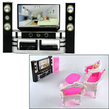 Hot Kid Dollhouse Furniture Accessories TV Theatre Set Outfit for Barbie Doll