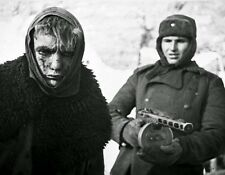 """German Prisoner of war escorted by a Soviet Soldier 8""""x 10"""" WWII Photo 295"""