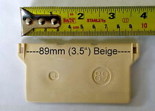 "10 x 3.5"" 89mm Vertical Blind/s BEIGE Bottom Weights (parts spares repair)"