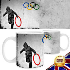 Banksy Olympic Rings Design Novelty  White Mug / Cup