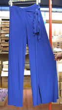 Joseph Ribkoff UK 10 Superb Non-Crease Jersey Side-Tie Royal Blue Trousers