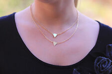 On Vacation all orders will ship Dec 10-Gold Plated Layer Necklace Triangle