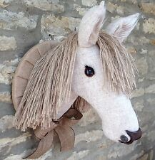 Handmade faux taxidermy Harris tweed pony horse head wall mounted decoration