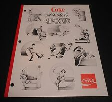 "Vintage Coca Cola 1970's School Tablet ""Adds life to Sports"""