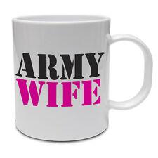 Moglie DELL'ESERCITO-soldato marines// Matrimonio/DIVERTENTE IDEA REGALO/TAZZA IN CERAMICA Compleanno