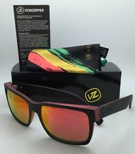 New VONZIPPER Sunglasses VZ ELMORE Vibration Satin Red Yellow Green w/Red Mirror