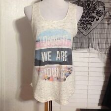 MIGHTY FINE Tank Top SIZE X-LARGE Tonight We Are Young