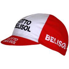 Vermarc PRO TEAM LOTTO BELISOL Cotone Ciclismo Tappo / Cappello - 2014-Rosso / Bianco