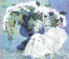 First Snow Lop Eared White Rabbit Quilt Pattern 24X22 Maggie Walker Pattern Only