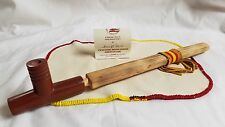 "15"" Plains Four Winds Peace Pipe w/ bead work - Pipestone Catlinite Chanupa"