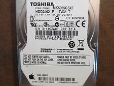 Toshiba MK5065GSXF HDD2J62 P TV02 T 010 E0/GP006B Apple#655-1646C 500gb Sata