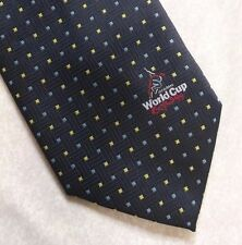 WORLD CUP CRICKET ENGLAND 1999 ICCC BY TIE RACK NAVY LONG MENS NECKTIE 1990s