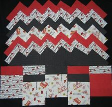 40 firetruck rescuer 4x4 fabric squares  quilting kit sewing fabric
