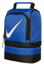 Nike lunch box tote school bag for boys/girls 2 compartments blue insulated dome