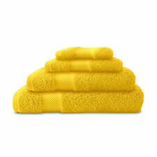 2 Cannon Egyptian Cotton Bath Towels Hand Towels  Bright Yellow  SOFT AND FLUFFY