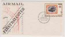 (EV20) 1973 PNG FDC 9c first issued airmail (B)