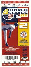 2007 World Series Game 2 Full Ticket Rockies Red Sox