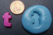 "Reusable Letter ""T"" Silicone Food Safe Mould, Mold, Sugarcraft, Jewellery, Cake"