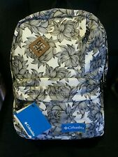 NWT COLUMBIA Varsity Day Laptop Backpack Bookbag Ink Floral White #120